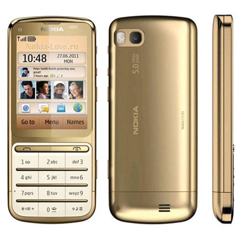 NOKIA C3-01 5 GOLDNokia C3 Gold